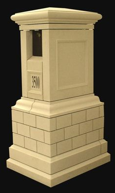 American Masonry Supply, Inc. - Cast stone trims - window and door, sills, handrails and Stone Mailbox, Cast Stone, Steel Doors, House Numbers, Mold Making, Windows And Doors, Classic Style, It Cast, House Ideas