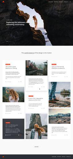 5 wonderful travel website designs examples for inspiration. i hope you lik Ui Website, Website Layout, Web Layout, Layout Design, Website Design Inspiration, Blog Design, Web Design Inspiration, Page Design, Web Design News
