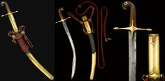 """Ottoman pala, a short type of kilij, 19th c, slightly curved slender steel blade expanding towards the tip with ridges to the flat edge, solid gold hilt quillons and rhino horn hilt, leather covered wooden scabbard with finely engraved solid gold ensuite chape and lock, scabbard with attached cord and ivory collection label inscribed """"Presentation Sword to Admiral Dundas"""". Remembered as a brave and chivalrous officer he died in October 1862."""