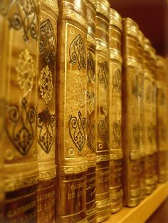 row of lovely old books