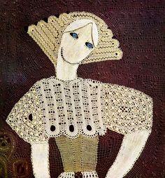 «Marina» 1966 de Elena Holéczyova, Tchécoslovaquie. Dentelle aux fuseaux / Bobbin lace