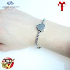 Unique engraved #'artemis' heart charm #bracelet free engraving and uk #postage,  View more on the LINK: http://www.zeppy.io/product/gb/2/281668303456/