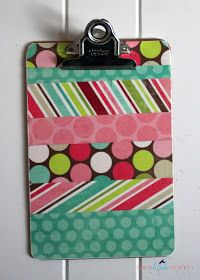 Scrap Buster Clipboard Tutorial-Clear masking tape works well also.
