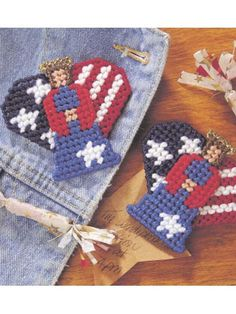Liberty Angels free plastic canvas pattern of the day from freepatterns.com 9/4/13