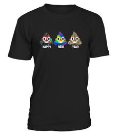 New Year Shirt Happy New Year Poop Emoji Shirt Funny  Funny New Year T-shirt, Best New Year T-shirt