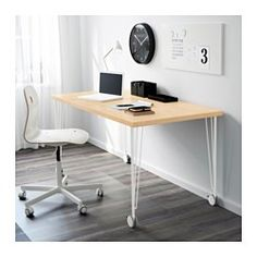 IKEA - KRILLE, Leg with caster, , Lockable casters make the table easy to move and lock in place.