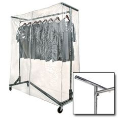 Garment Rack Cover With Support Bars