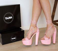 Light Pink Lace Up High Heel Summer Platforms Pink Prom Shoes, Prom Heels, Lace Up High Heels, Black High Heels, Light Pink Heels, Platform Shoes Heels, Platform Bed, Fashion Heels, Women's Fashion