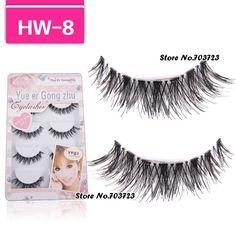 5 Pairs Thick Black False Eyelashes Fake Eye Lash Clear Band HW-8
