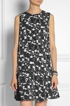 Proenza Schouler Printed silk-georgette mini dress NET-A-PORTER.COM