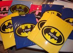 batman tees for party favors