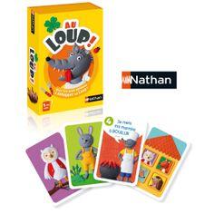 Un jeu de mémoire qui fait frémir : Au loup !, chez Nathan. Dès 4/5 ans.