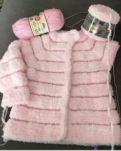 Sweater Knitting Patterns, Baby Knitting, Crochet Patterns, Knitted Baby Cardigan, Knit Vest, Crochet Baby Shoes, Knit Crochet, Knit Fashion, Mittens