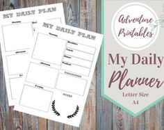 My Daily Planner Printable Personal Or Business Planner  PDF Download, Productivity  Planner, Daily Life Plan- Sizes A4 ans Letter Size -    Edit Listing  - Etsy