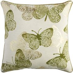 Pier 1 Imports Spring Meadow Butterfly Oversized Pillow ($28) ❤ liked on Polyvore featuring home, home decor, throw pillows, green, pier 1 imports, green accent pillows, oversized throw pillows, butterfly home decor and spring throw pillows