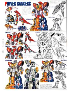 They really dig the drill arms. from Abaranger all the way to Kyoryuger. - Super Sentai Mecha Concept Art - Photo of 151 Power Rangers Megazord, Go Go Power Rangers, Zoids, Pawer Rangers, Green Ranger, Mighty Morphin Power Rangers, Super Robot, Pokemon, Kamen Rider