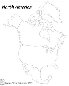 Printable map of north america pic outline map of north america image result for printable north america continent worksheet gumiabroncs Images