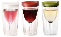 Wine Sippy Cups   OMG! This would work great to keep the fruit flies from doing the back stroke in your glass!
