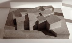 Best Public Building: architectural model of Hepworth Wakefield, UK, by David Chipperfield Architects