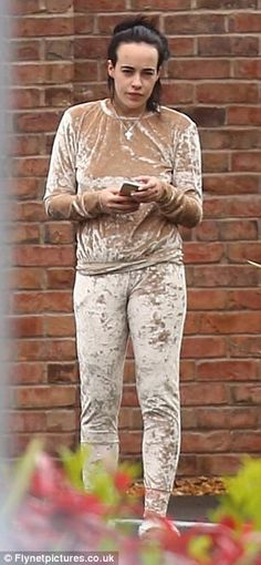 What's the matter? Make-up free Stephanie Davis was pictured looking tired as she stepped ...