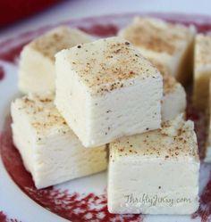 Eggnog Fudge Recipe - A Christmas Classic - Thrifty Jinxy