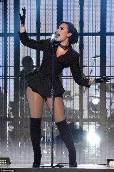 Vixen: Demi Lovato looked incredible as she flaunted her stunning curves up on the stage at the American Music Awards on Sunday night, at Los Angeles' Microsoft Theater