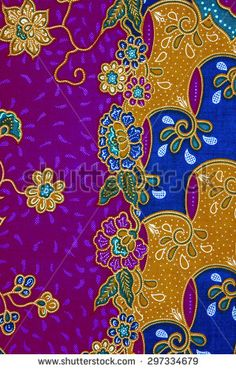 Beautiful and colorful of art Malaysian and Indonesian Batik pattern. Batik Pattern, Border Design, Bed Sheets, Creations, Inspiration, Passion, Colorful, Beautiful, Art
