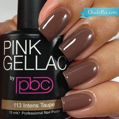 nails.quenalbertini: Pink Gellac 'Intens Taupe' | Chickettes