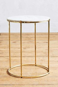 Brass Leavenworth Marble Side Table