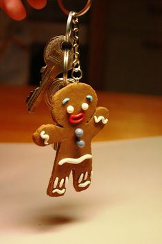 Polymer clay Gingy from Shrek tutorial.