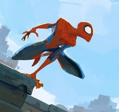 by Alvaro Ramirez - Spiderman Fan Art Spiderman Poses, Spiderman Drawing, Spiderman Art, Amazing Spiderman, Marvel Comics, Marvel Art, Art Poses, Drawing Poses, Drawing Ideas