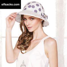 Women's Summer Hats Sunhat Visors Sunscreen Big dot