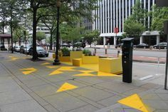 Gensler Designs Bright Yellow Parklet for D.C. | Architect Magazine | Urban Design, Architects, Golden Triangle Business Improvement District (BID), District Of Columbia