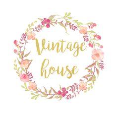 floral vintage logo