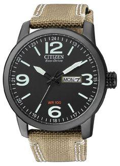 Citizen Herren-Armbanduhr Analog Quarz Nylon BM8476-23EE…