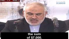 Iranian ambassador to Lebanon Mohammad FatahAli promises funds for Palestinian terrorists, February 24, 2016 (Memri screenshot)