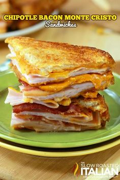 MEGA #YUM Chipotle Bacon Monte Cristo Sandwiches, Must have. @Donna | The Slow Roasted Italian