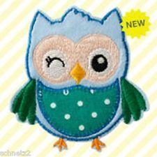 ♥Aufbügler♥Bügelmotiv♥Applikation Patch♥Eule Blau ♥Aufnäher ♥NEU♥♥