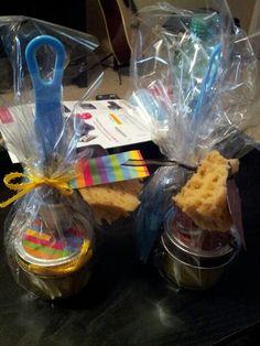 My version of mistletoe gifts: homemade Lemon sugar scrub, pedicure set and nail polish
