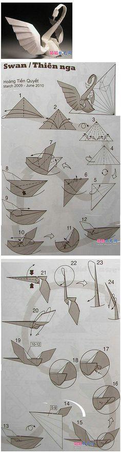Manual DIY accessories Coldplay tide matter origami - Swan