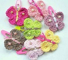 Papillons crochet barettes.  régimes