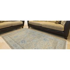 Hand-Knotted Ariel Beige Traditional Area Rug (10' x 14') (Beige - India - High Traffic), Size 10' x 14' (Wool, Border)