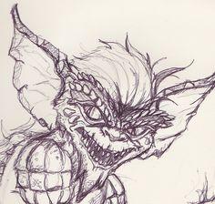 Bad Retro: Gremlins Sketch Graffiti Art Drawings, 3d Drawings, Cartoon Drawings, Drawing Sketches, Gremlins, Gizmo Tattoo, Comic Face, Comic Tattoo, Human Drawing