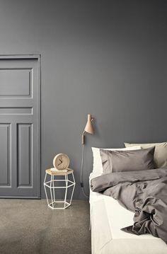 Uberlegen Skandinavisches Design Einrichtungsbeispiele Schlafzimmer Wandfarbe Grau