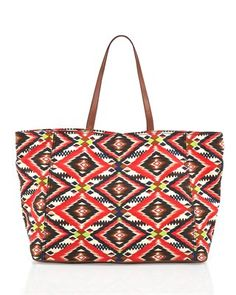 Cynthia Vincent  Southwestern Large Canvas Tote
