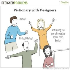 On the Creative Market Blog - Designer Problems Comic #14: Pictionary with Designers