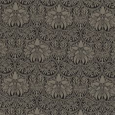 Morris and Co Archive Weaves Crown Imperial Fabric Collection 230292 William Morris, Textures Patterns, Print Patterns, Fabric Crown, Designer Wallpaper, Wallpaper Designs, Tapestry Design, Floral Illustrations, Black Linen