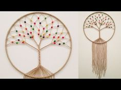 hand embroidery amazing trick# easy trick to make woolen flower with scale# wool flower - Free Online Videos Best Movies TV shows - Faceclips Making Dream Catchers, Dream Catcher Craft, Doily Dream Catchers, Macrame Wall Hanging Patterns, Macrame Patterns, Yarn Crafts, Diy And Crafts, Diy Dream Catcher Tutorial, Dream Catcher Patterns