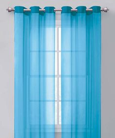 Take a look at this Aqua Carlson Curtain Panel by Victoria Classics on #zulily today!