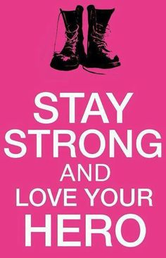 Stay strong and love your hero Marine Love, Army Love, Air Force Love, Soldiers Coming Home, Airforce Wife, Usmc, Navy Life, Navy Mom, Army Family